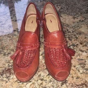 NWT Anthropologie Schumer & Sons Stacked Heel Shoe